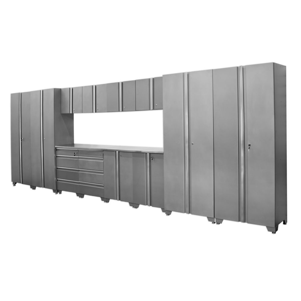 Classic Series Cabinets Silver 14 Piece