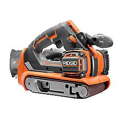 RIDGID Ponceuse à bande sans fil GEN5X 18V GEN5X de 3 po x 18 po sans balais (pour outils seulement) avec sac à poussière