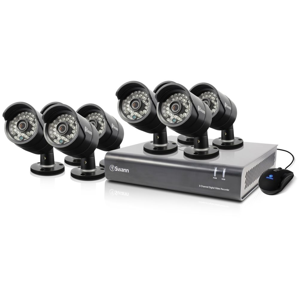 8 Channel DVR & 8 x PRO-A850 Cameras
