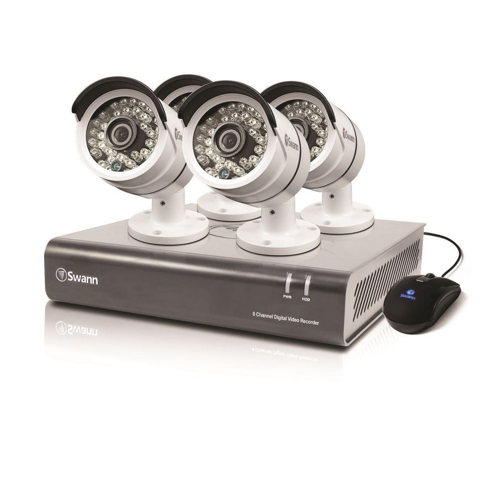 8 Channel DVR & 4 x PRO-A855 Cameras