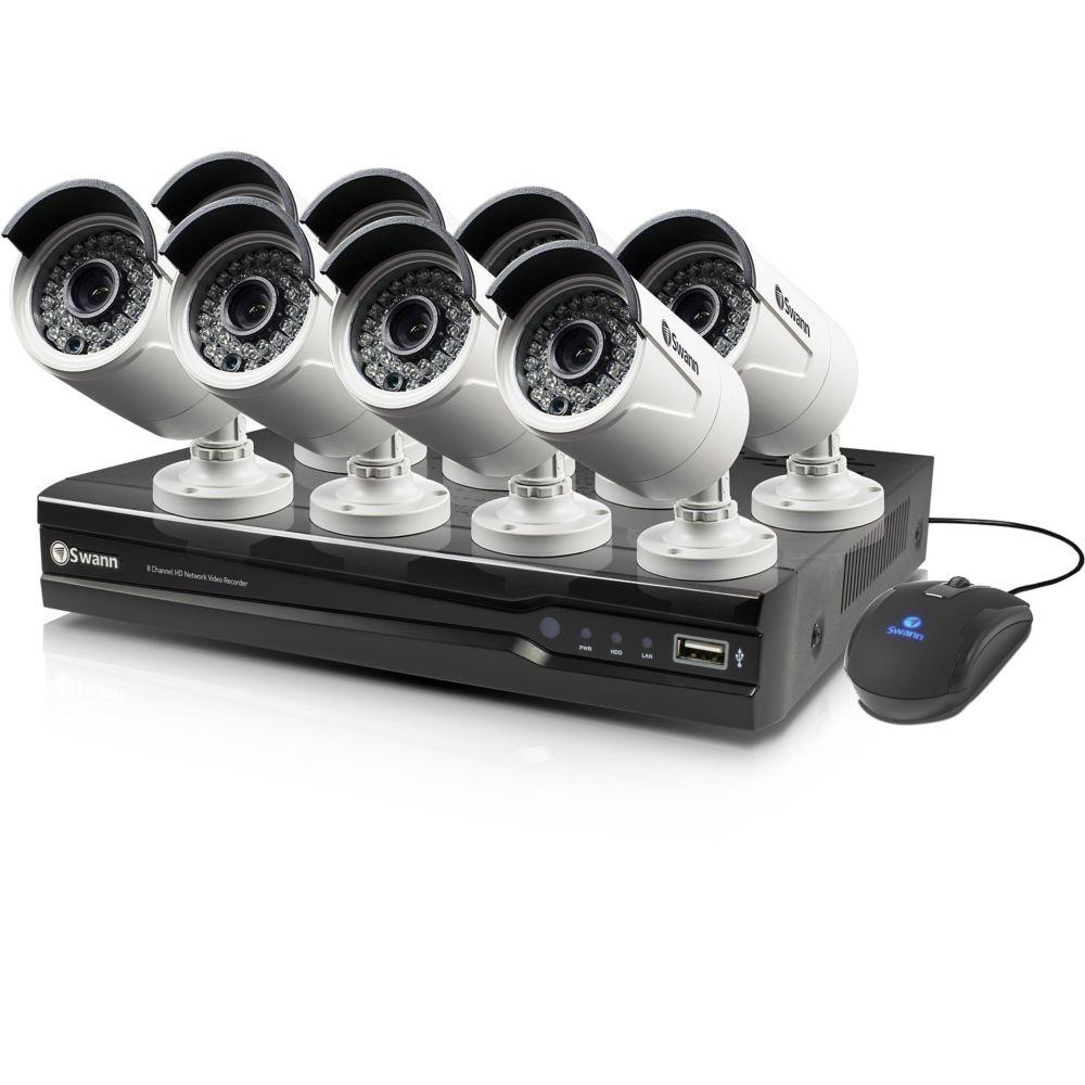 8 Channel NVR & 8 x NHD-815 Cameras