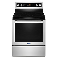 Maytag 6.4 cu. ft. Electric Range with Self-Cleaning Convection Oven in Stainless Steel