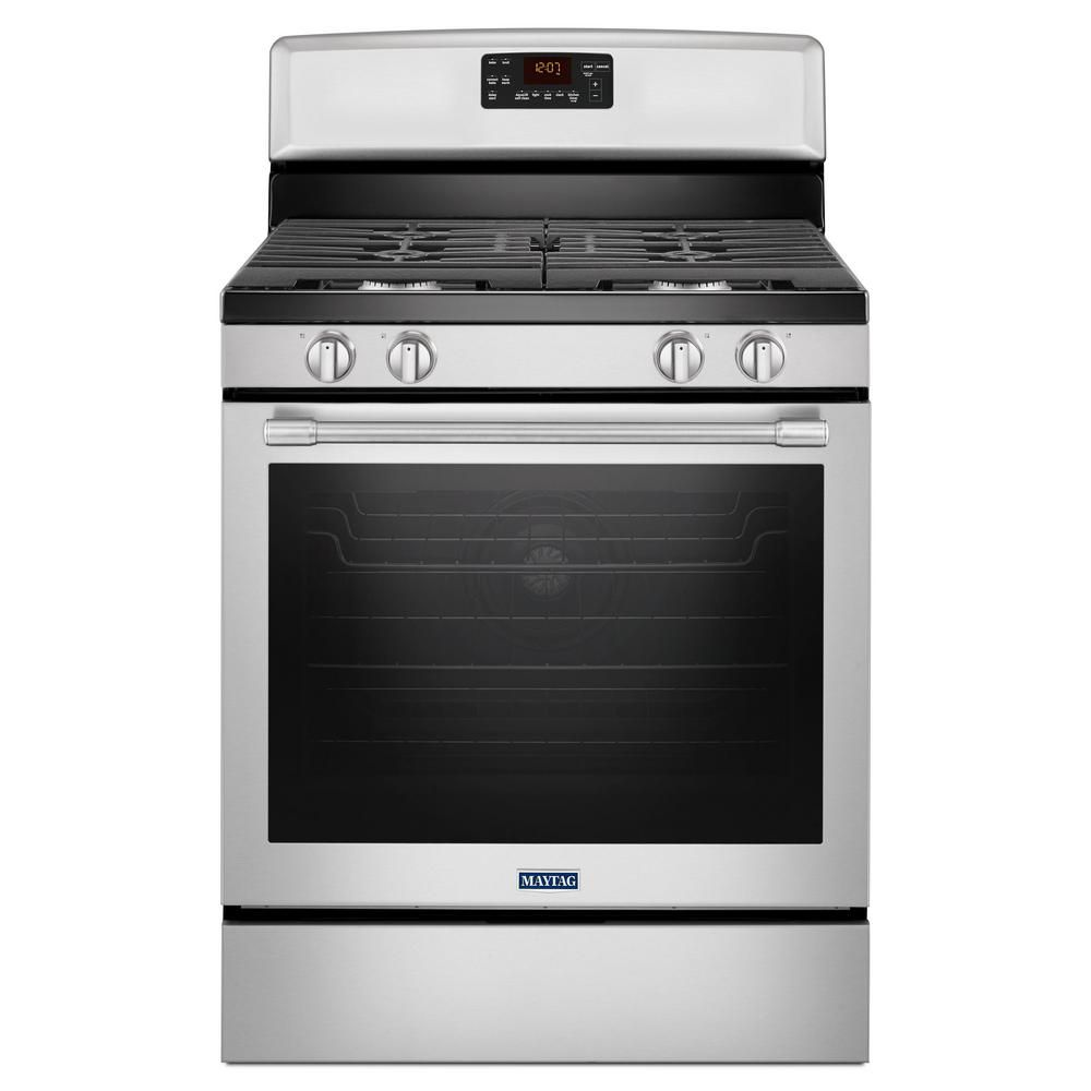 30-Inch Wide Gas Range with Fan Convection and Max Capacity Rack - 5.8 Cu. Feet