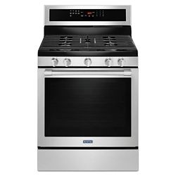 Maytag 5.8 cu.ft.Gas Range with Self-Cleaning Convection Oven in Fingerprint Resistant Stainless Steel