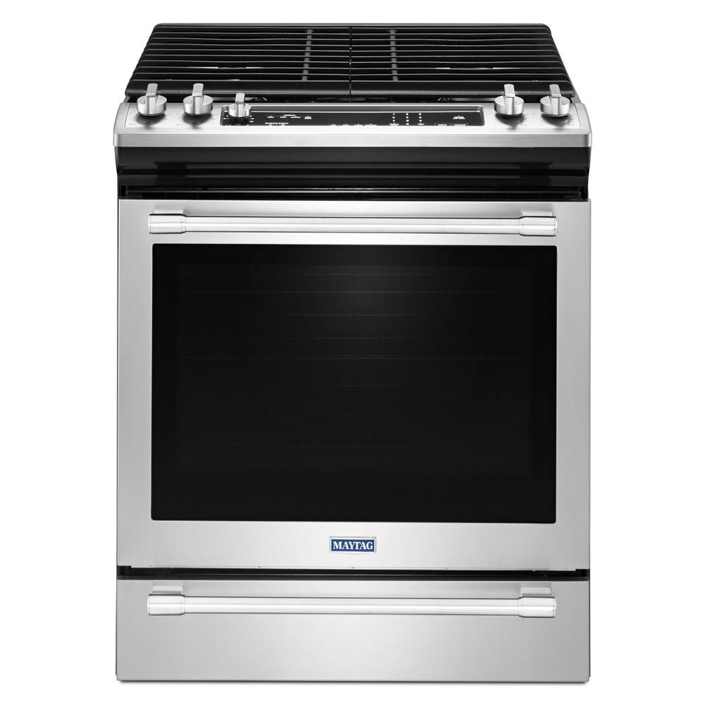 30-In 5.8 cu.ft. Single Oven Gas Range with Self Cleaning in Finger Print Resistant Stainless Steel