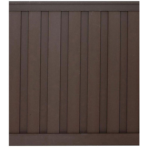 6 Feet x 6 Feet Woodland Brown Wood-Plastic Composite Board-On-Board Privacy Fence Panel Kit