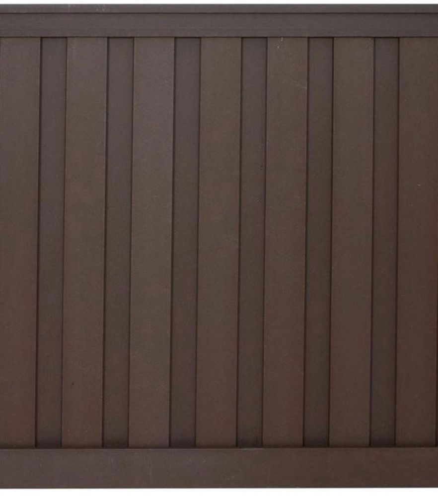 Seclusions 6 Feet x 6 Feet Woodland Brown Wood-Plastic Composite Board-On-Board Privacy Fence Panel Kit