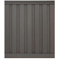Seclusions 6 Feet x 6 Feet Winchester Grey Wood-Plastic Composite Board-On-Board Privacy Fence Panel Kit