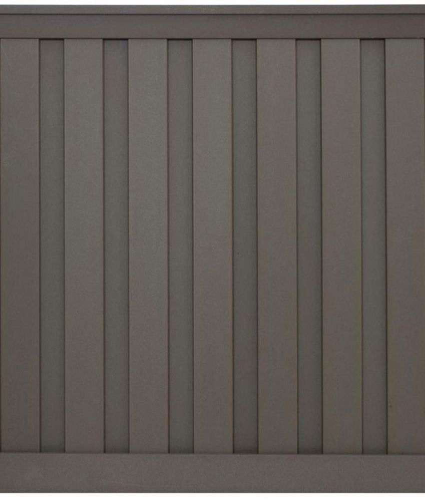 6 Feet x 6 Feet Winchester Grey Wood-Plastic Composite Board-On-Board Privacy Fence Panel Kit