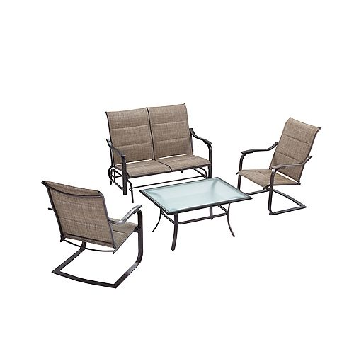 Hampton Bay 4-Piece Patio Deep Seating Set