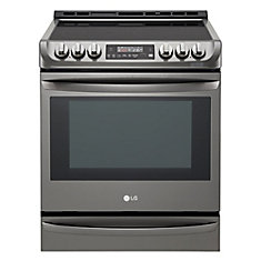 30-inch 6.3 cu.ft. Electric Slide-In Range with ProBake Convection in Black Stainless Steel