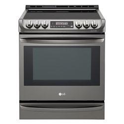 LG Electronics Cuisinière électrique encastrable avec ProBake Convection, 6,3pi3, 30 po, acier inoxydable noir