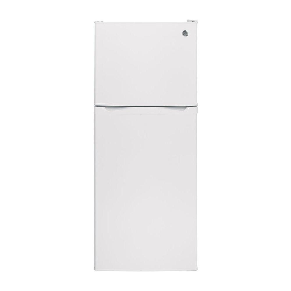 GE 24-inch W 11.55 cu. ft. Top Freezer Refrigerator in White - ENERGY STAR®
