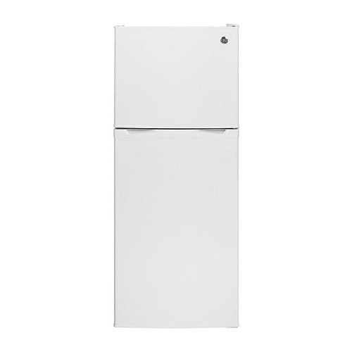 GE 24-inch W 11.55 cu. ft. Top Freezer Refrigerator in White - ENERGY STAR®