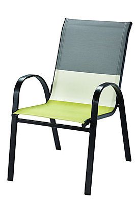 Hampton Bay Patio Sling Stacking Chair In Multi Colour The Home Depot Canada
