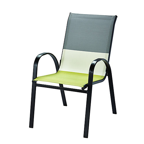 Patio Sling Stacking Chair in Multi-Colour