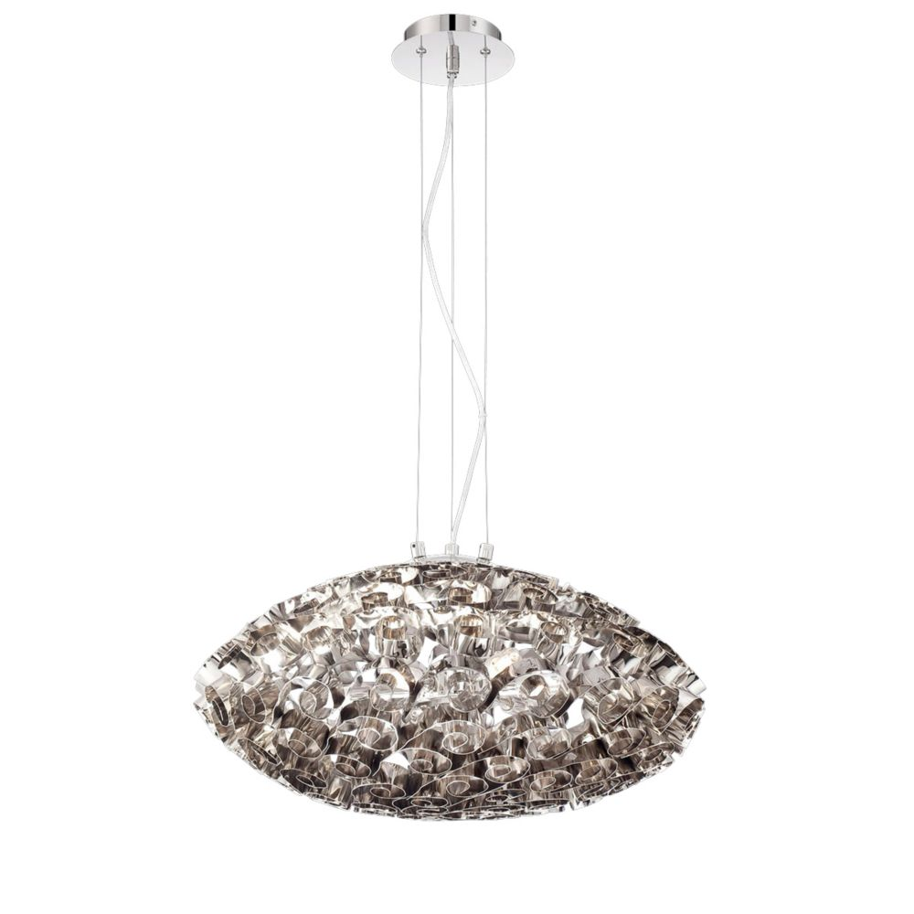Grace Collection, 6-Light Nickel Chandelier