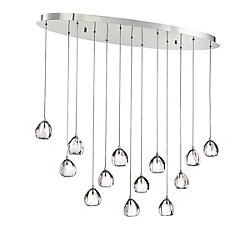 Lucido, 13-Light Chrome Chandelier