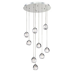 Lucido, 9-Light Chrome Chandelier