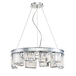 Lumino Collection 10-Light Chandelier in Chrome