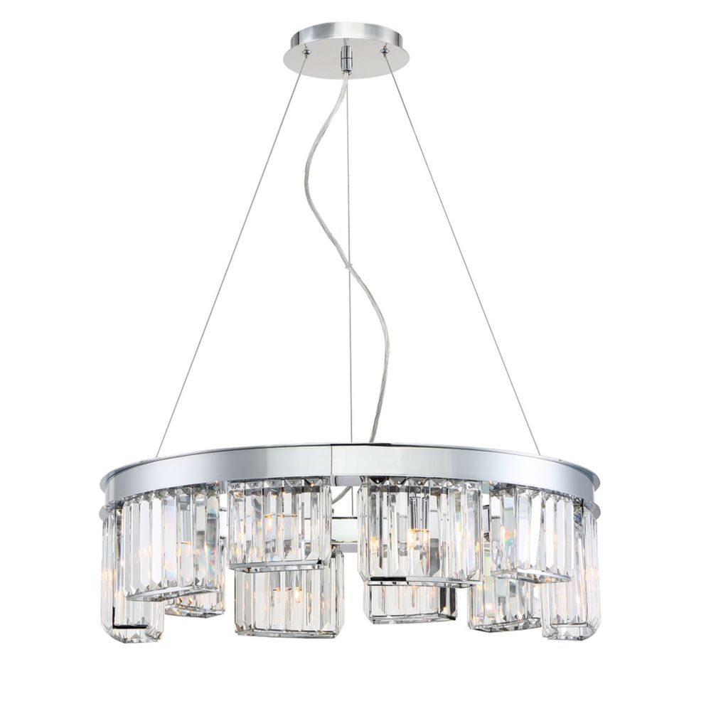 Lumino Collection, 10-Light Chrome Chandelier