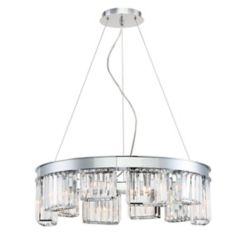 Eurofase Lumino Collection 10-Light Chandelier in Chrome