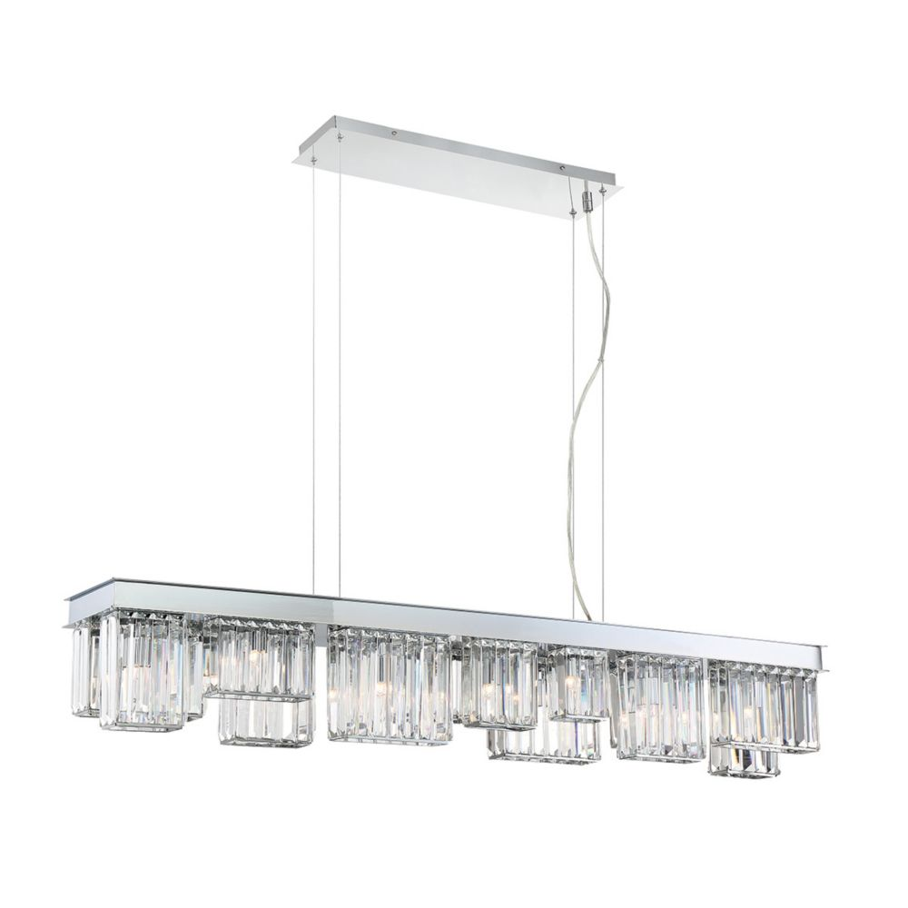 Lumino Collection, 14-Light Chrome Chandelier