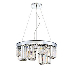 Lumino Collection, 8-Light Chrome Chandelier