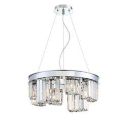 Eurofase Lumino Collection, 8-Light Chrome Chandelier