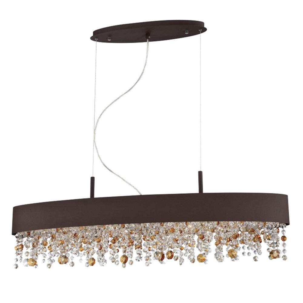 Romanelli Collection, 6-Light Oval Bronze Chandelier