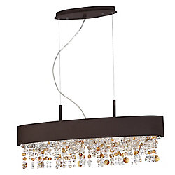 Eurofase Romanelli Collection, 6-Light Oval Bronze Chandelier