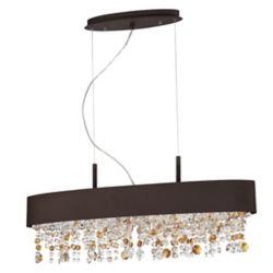 Eurofase Romanelli Collection, 6-Light Oval Bronze Chandelier