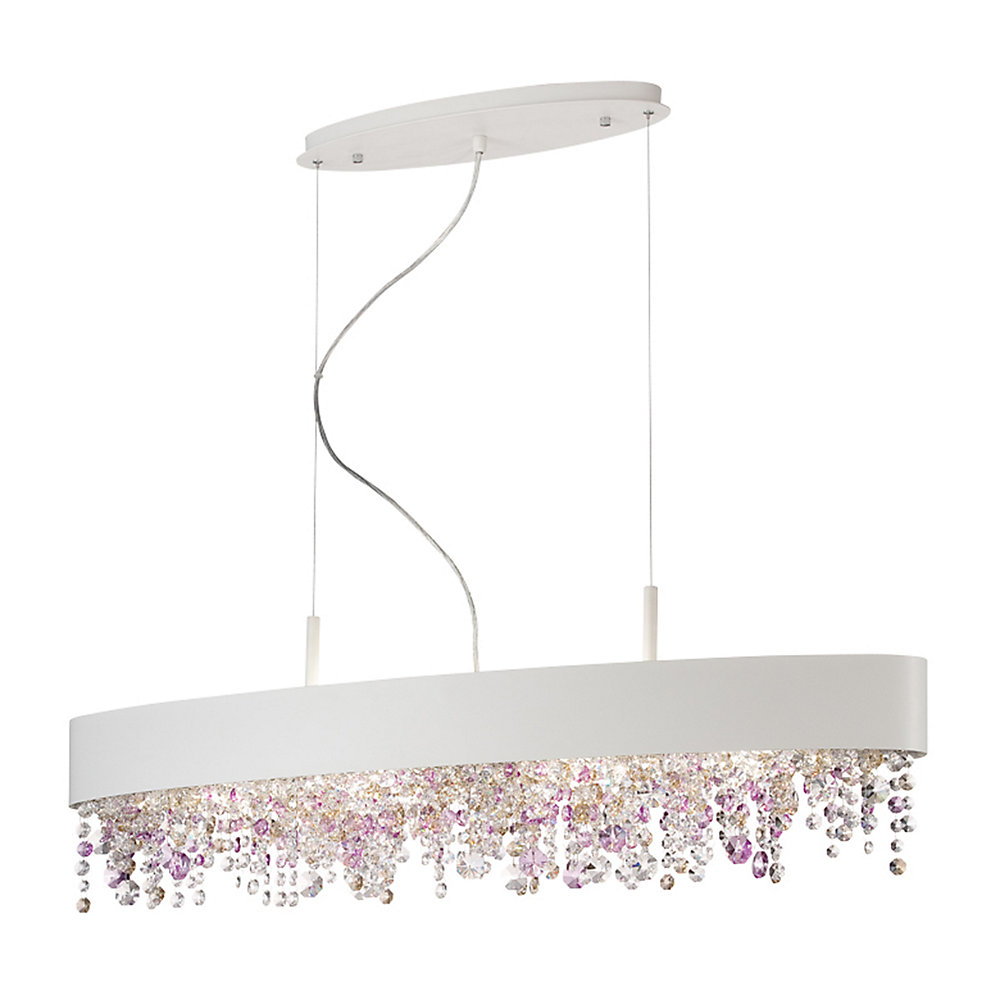 Romanelli Collection, 6-Light Oval White Chandelier