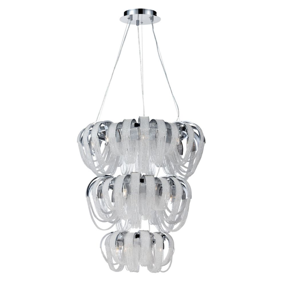 Sage Collection, 17-Light Chrome and Clear Chandelier