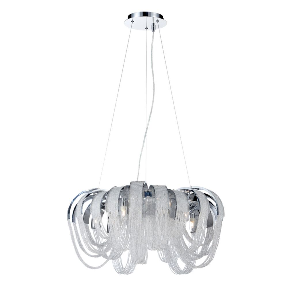 Sage Collection, 5-Light Chrome and Clear Chandelier