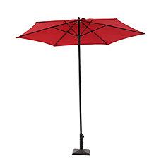 7.5 ft. Steel Market Umbrella in Red