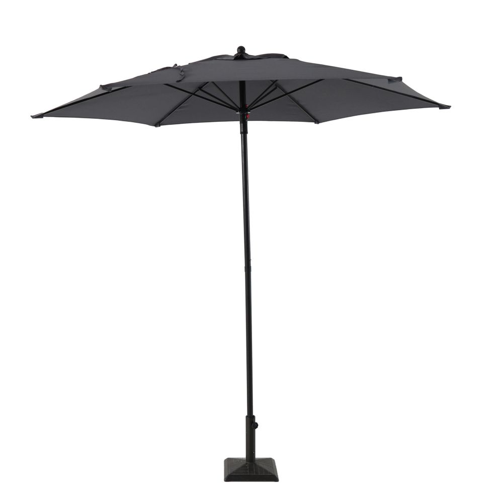 Hampton Bay 7.5 ft. Market Umbrella in Grey