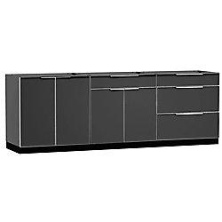 Outdoor Kitchen Aluminum  3-Piece 96 inch W x  36.5 inch H x 24 inch D  Cabinet Set