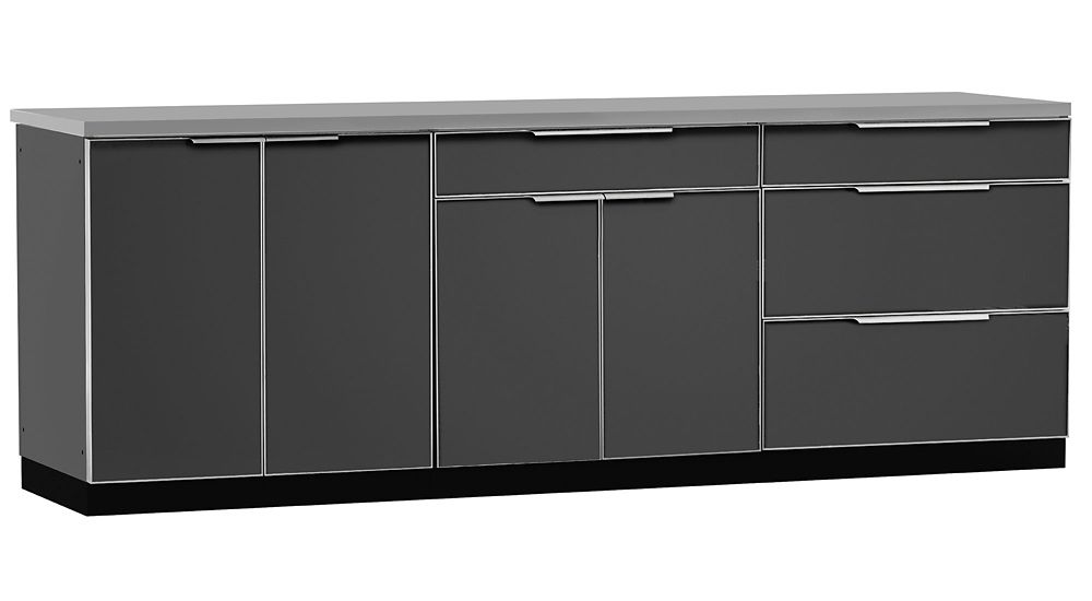 Outdoor Kitchen 4 PC (with cover) Aluminum Slate