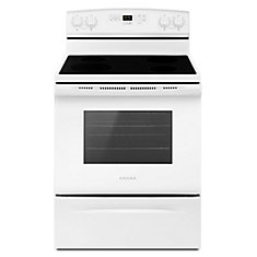 30-Inch 4.8 cu.ft. Single Oven Electric Range with Self-Cleaning in White