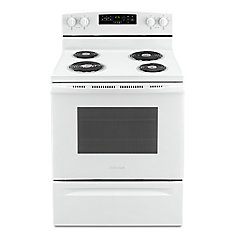30-Inch 4.8 cu.ft Single Oven Electric Range with Self-Cleaning in White