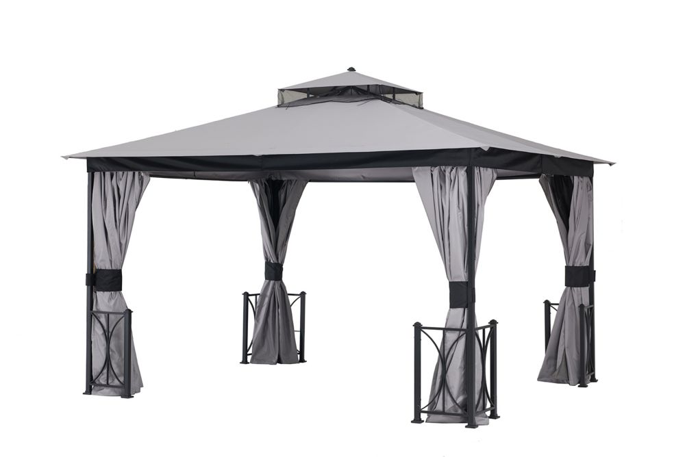 Gazebo Penguin 5 Ft. X 8 Ft. Grill Gazebo In Dark Chocolate
