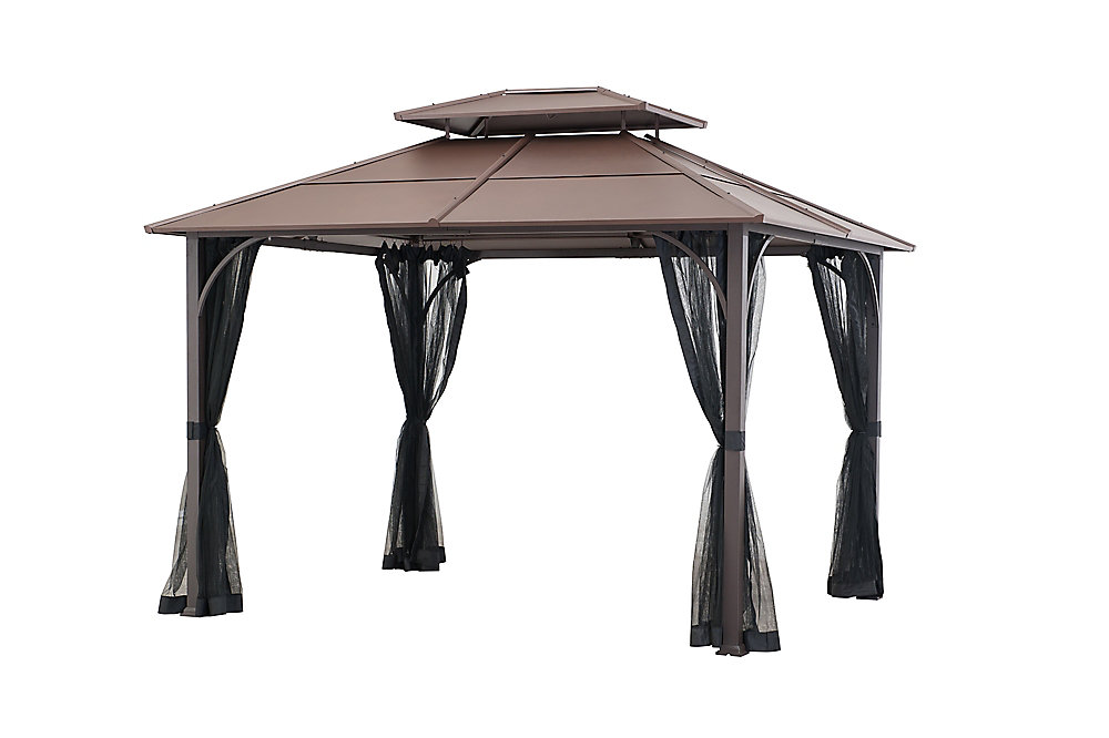 Farrington Hard Top Gazebo in Brown