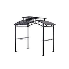 8 1/2 ft. x 5 ft. Steel BBQ Gazebo in Black