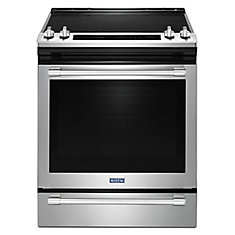 6.4 cu. ft. Slide-In Electric Range with Self-Cleaning Convection Oven in Fingerprint Resistant Stainless Steel