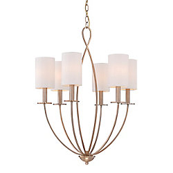 Castana Collection, 6-Light Gold Chandelier