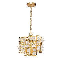 Elrose Collection, 3-Light Gold Pendant
