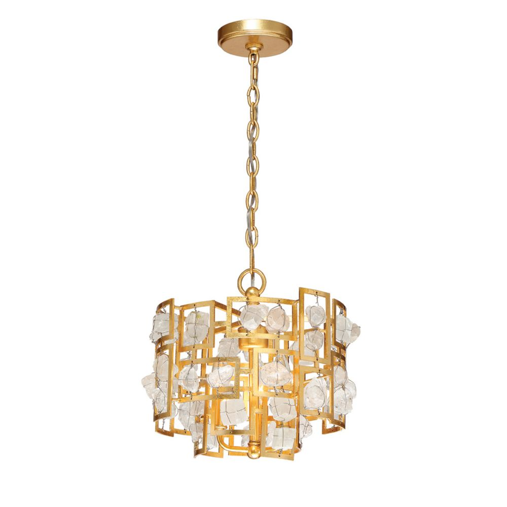 Elrose Collection, 3-Light Gold Pendant