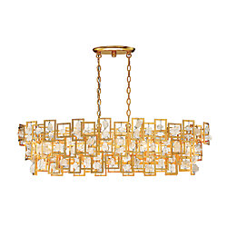 Elrose Collection, 5-Light Gold Chandelier