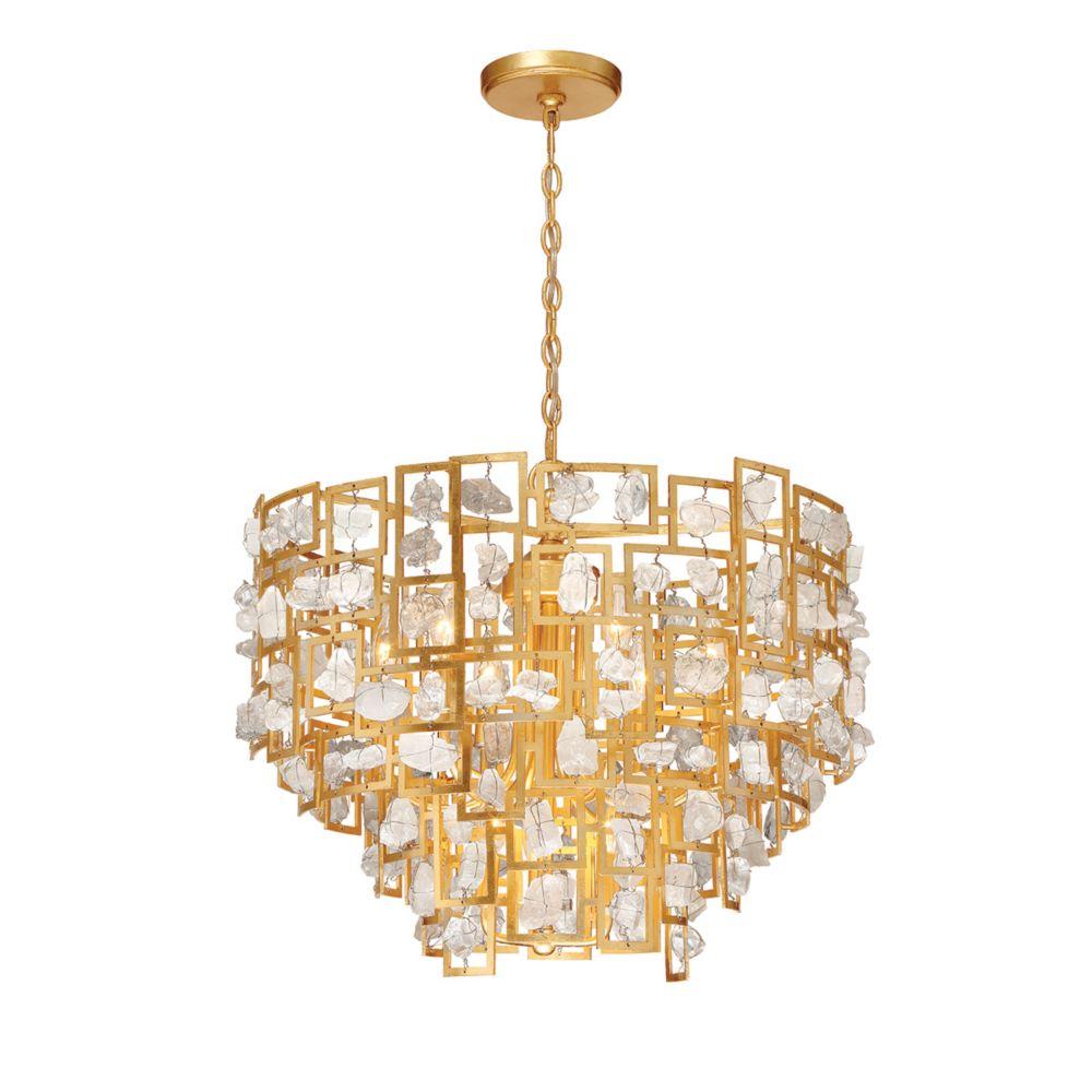Elrose Collection, 9-Light Gold Chandelier